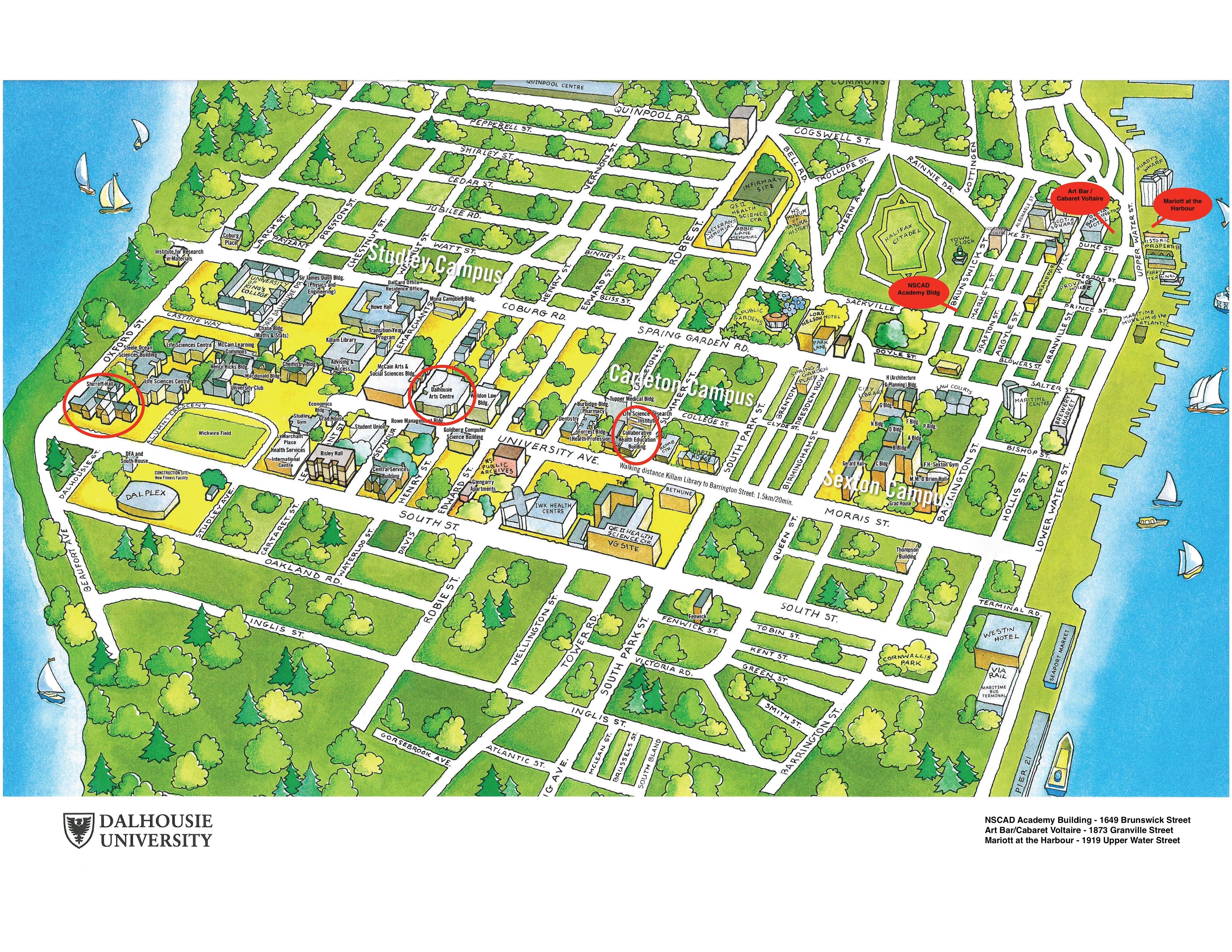 Dalhousie Campus Map ACM Hypertext 2016   Campus Map Dalhousie Campus Map